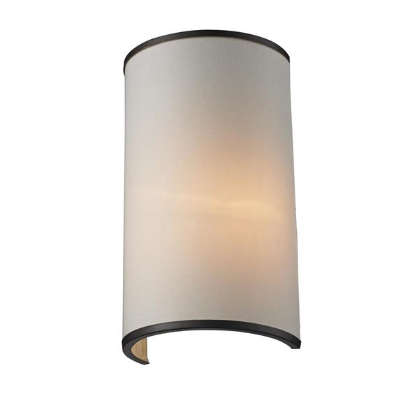 Z-Lite Cameo 11.63-In x 6.63-In x 4.50-In Bronze Wall Sconce
