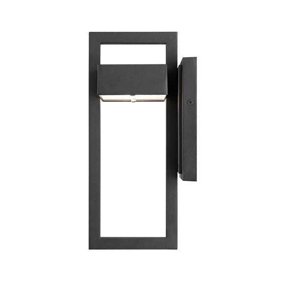 Z-Lite Luttrel 11.75-In x 5.50-In Black Outdoor Wall Sconce