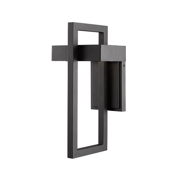 Z-Lite Luttrel 15.00-In x 7.12-In Black Outdoor Wall Sconce