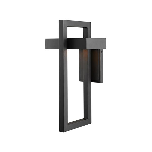Z-Lite Luttrel 18.00-In x 8.62-In Black Outdoor Wall Sconce