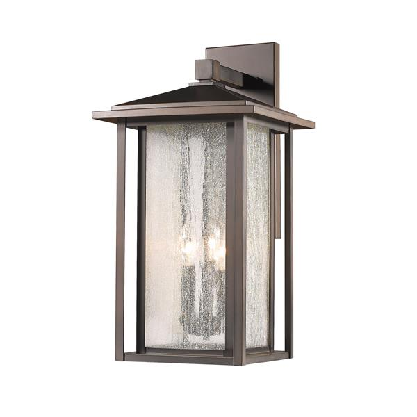 Z-Lite Aspen 21.13-in x 12-in Oil Rubbed Bronze Outdoor Wall Light