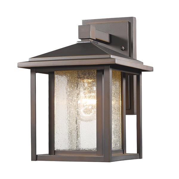 Z-Lite Aspen 10.88-In x 8.50-In Rubbed Bronze Outdoor Wall Light