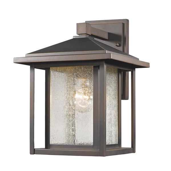 Z-Lite Aspen 12.75-in x 10-in Oil-Rubbed Bronze Outdoor Wall Light