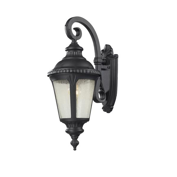 Z-Lite Medow  19.63-In x 7.75-In Black Outdoor Wall Sconce