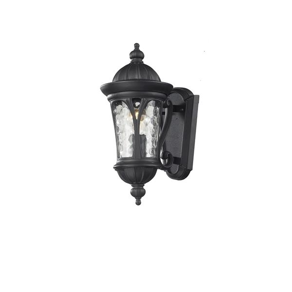 Z-Lite Doma 14-in Black 1-Light Outdoor Wall Sconce
