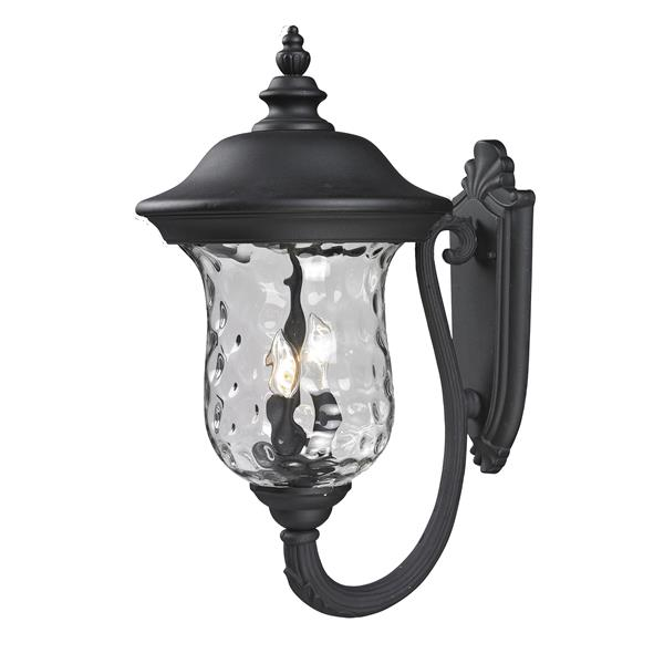 Z-Lite Armstrong 24.25-in x 12.38-in Black Outdoor Wall Light