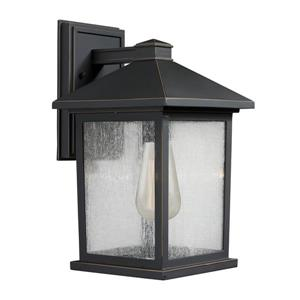 Z-Lite Portland 14-in Oil Rubbed Bronze Outdoor Wall Light