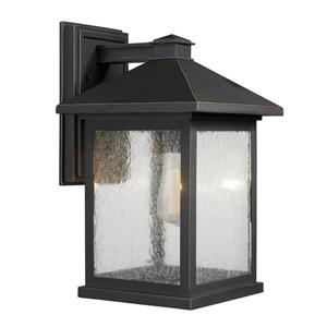 Z-Lite Portland 15.75-in Oil Rubbed Bronze Outdoor Wall Light