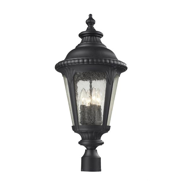Z-Lite Medow Outdoor Post Light - Black