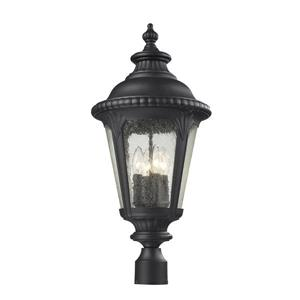 Z-Lite Medow Outdoor Post Light - Black