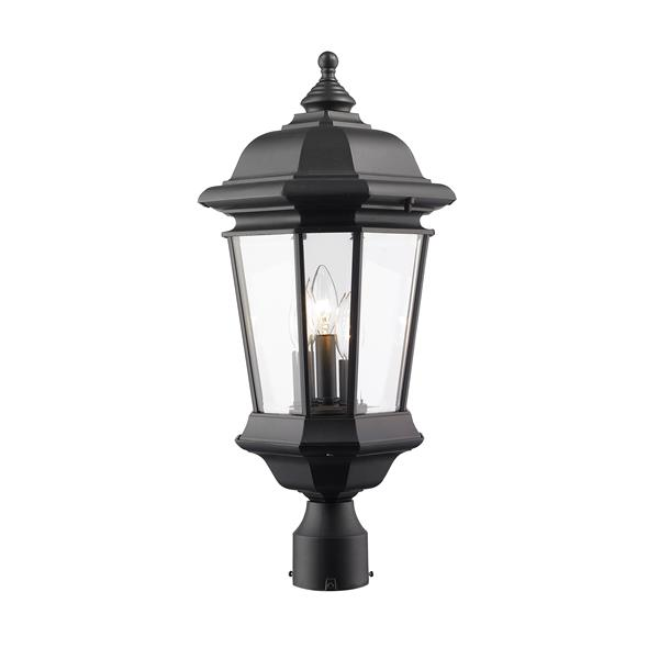 Z-Lite Melbourne 3-Light Outdoor Post Mount Light - Black