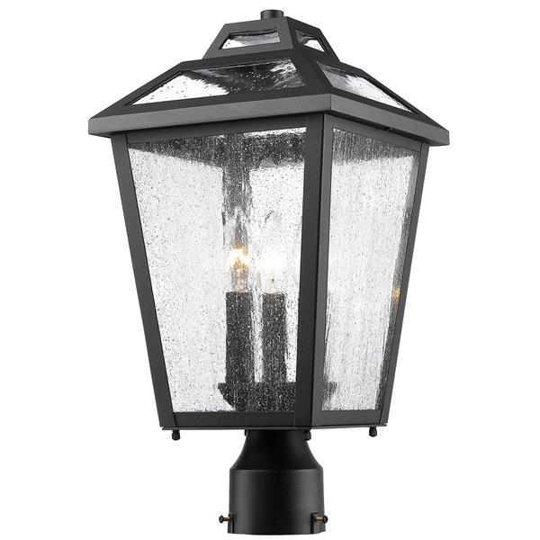 Luminaire extérieur pour poteau Bayland, 3 lumières, noir