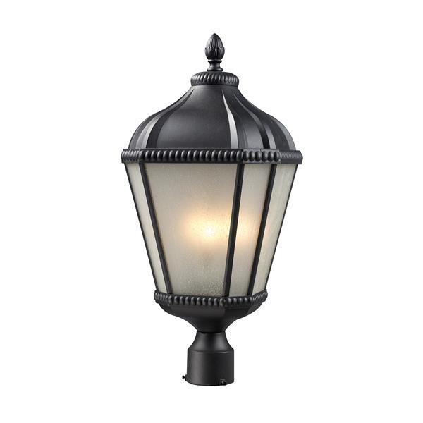 Luminaire pour poteau extérieur Waverly, noir