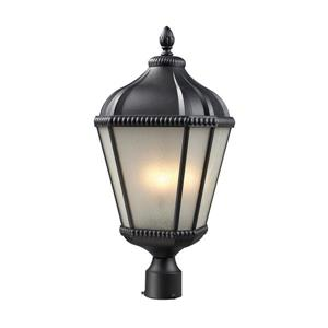 Z-Lite Waverly Outdoor Post Light - Black