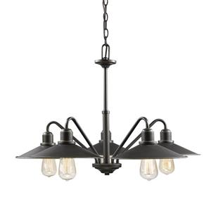Casa 30.25-in Olde Bronze 5 Light Chandelier