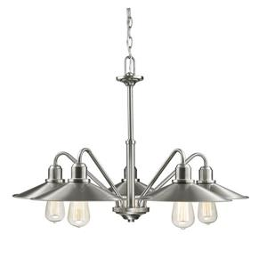 Z-Lite Casa 30.25-in Brushed Nickel 5 Light Chandelier