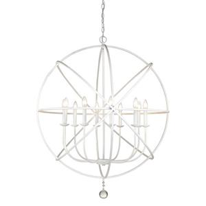 Z-Lite Tull 36-in Matte White 10-Light Chandelier