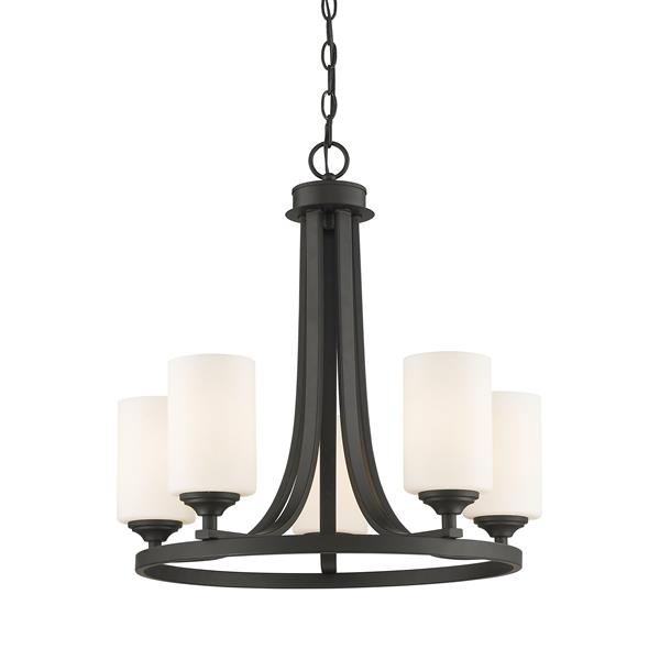 Z-Lite Bordeaux 5-Light 21.5-in Bronze Chandelier