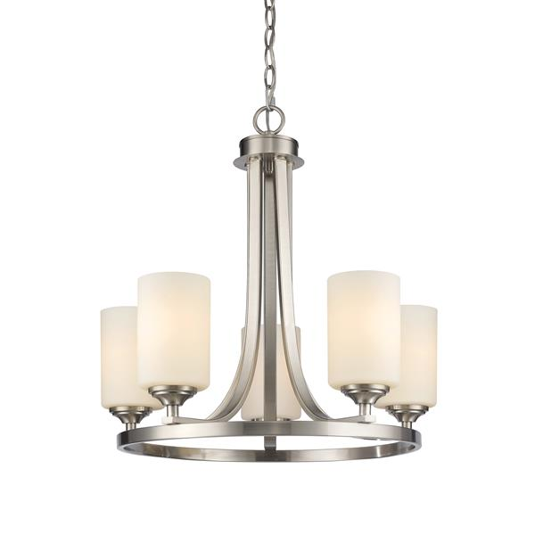 Z-Lite Bordeaux 5-Light 21.5-in Brushed Nickel