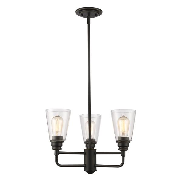Z-Lite Annora 3-Light 19-in Olde Bronze Chandelier
