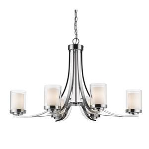 Z-Lite Willow 35.25-in Chrome 6-Light Chandelier