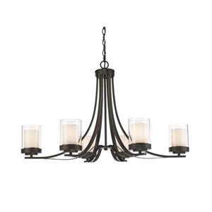 Z-Lite Willow 35.25-in Olde Bronze 6-Light Chandelier