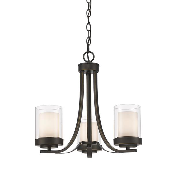 Z-Lite Willow 16-in Olde Bronze 3-Light Chandelier