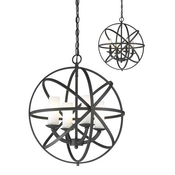 Z-Lite Aranya 18.31-In x 20.25-In Bronze 4-Light Pendant