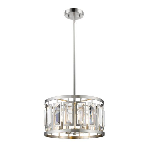 Z-Lite Mersees 15.6-In Brushed Nickel 4 Light Pendant Light