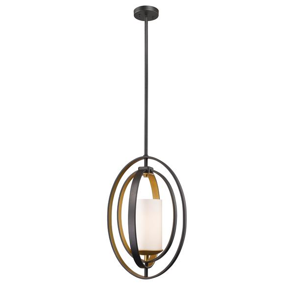 Z-Lite Ashling 11.38-in Bronze Gold 1 Light Mini Pendant