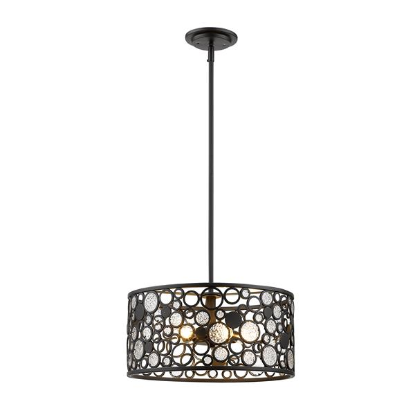 Z-Lite Ariell 16-In x 8-In Bronze 5-Light Pendant