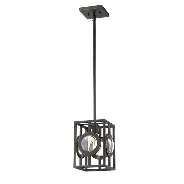 Z-Lite Port 8.5-In Olde Bronze 1-Light Mini Pedant Light