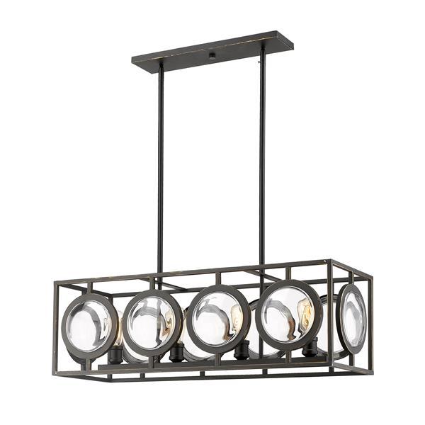Z-Lite Port 13.5-In Olde Bronze  4-Light Pendant Light