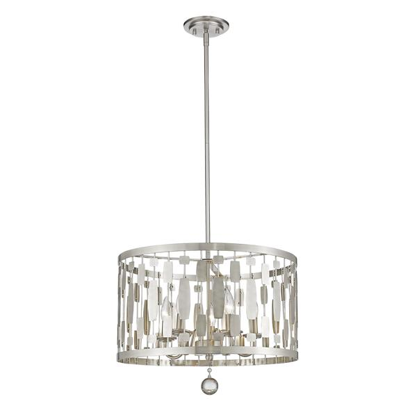 Z-Lite Almet 20-In Brushed Nickel 5-Light Pendant Light