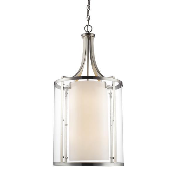 Z-Lite Willow 8-Light Pendant - 16-in - Brushed Nickel