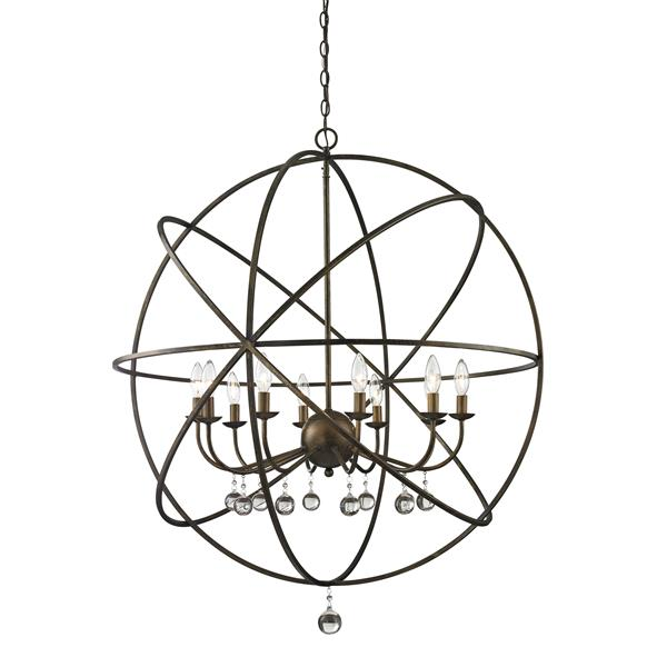 Z-Lite Acadia 36-In x 41.5-In Bronze Gold 10-Light Pendant