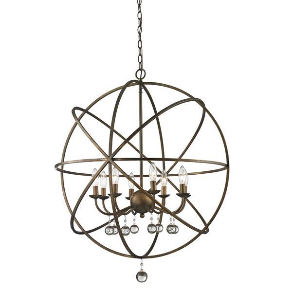"""Suspension à 8 lumières Acadia, 30"""", bronze doré"""