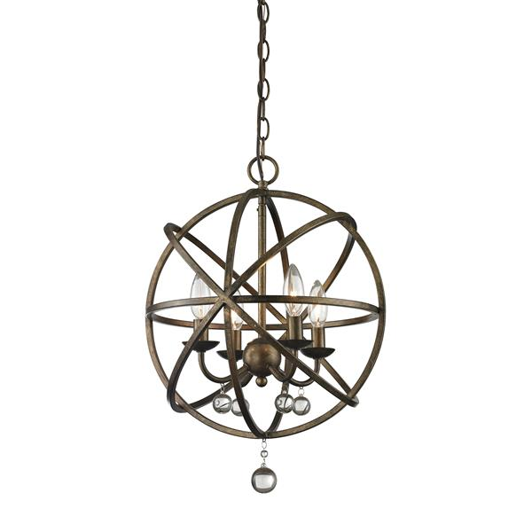 Z-Lite Acadia 16-In x 21-In Bronze Gold 4-Light Pendant