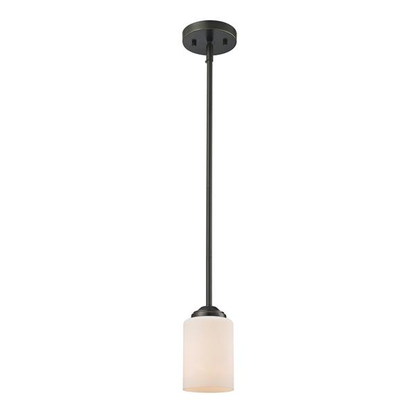 Z-Lite Cardinal 5-in Olde Bronze 1 Light Mini Pendant