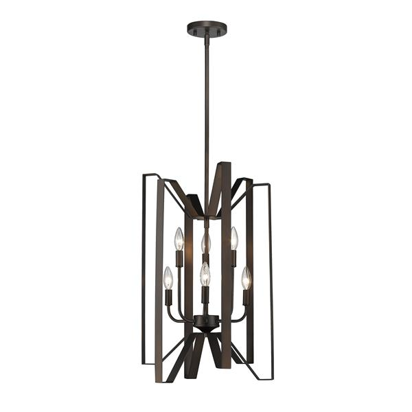Z-Lite Marsala 16-in Bronze 6 Light Pendant Light