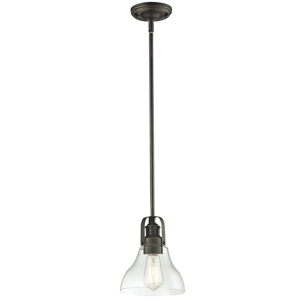 """Petit luminaire à 1 lumière Forge, 7,5"""", bronze antique"""