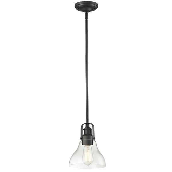 """Petit luminaire à 1 lumière Forge, 7,5"""", bronze"""