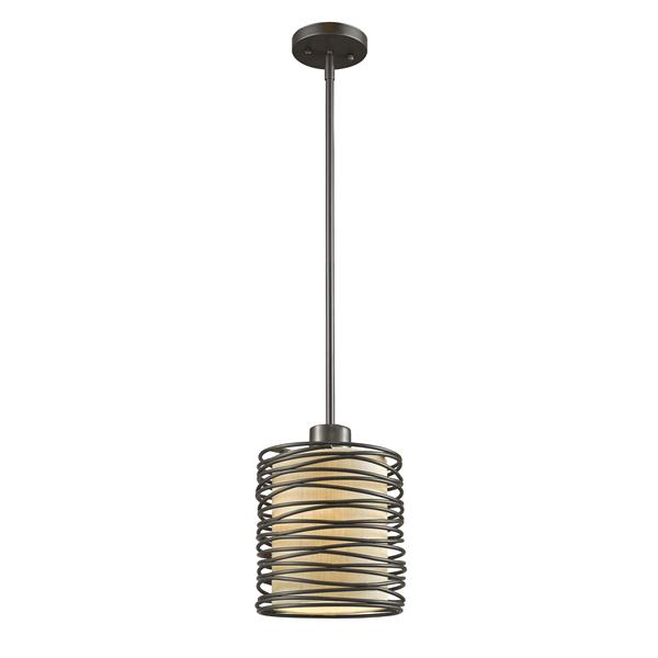 "Petit luminaire à 1 lumière Zinnia, 6"", bronze"