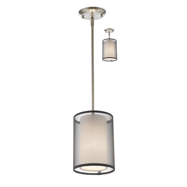 Z-Lite Sedona 1-Light Mini Pendant - 6-in - Brushed Nickel