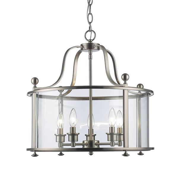 Z-Lite Wyndham 21.25-In Brushed Nickel 5-Light Pendant Light