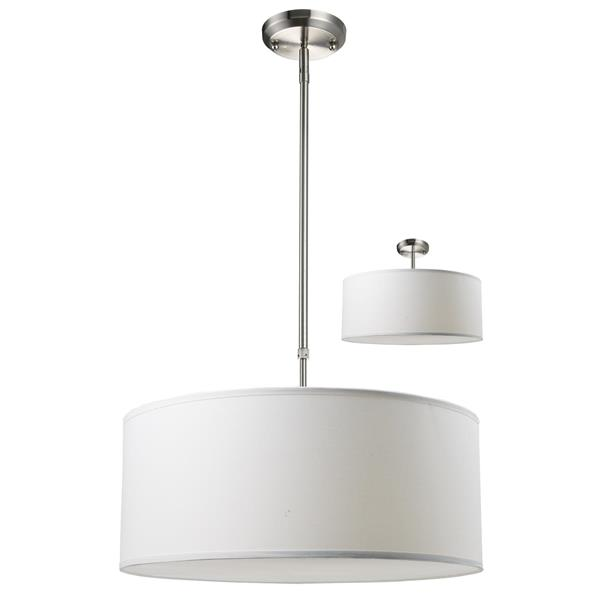 Z-Lite Albion 20-In x 10.5-In Brushed Nickel 3-Light Pendant