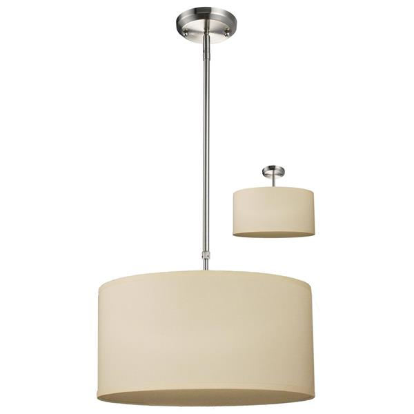 Z-Lite Albion 16-In x 8-In Brushed Nickel 3-Light Pendant