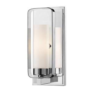 Z-Lite Aideen 10.25-In x 4.50-In x 4-In Light Chrome Wall Sconce