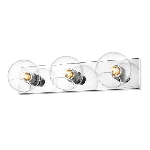 Z-Lite Marquee Chrome 3-Bulb Wall Sconce