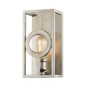 Z-Lite Port Antique Silver 1 Light Wall Sonce